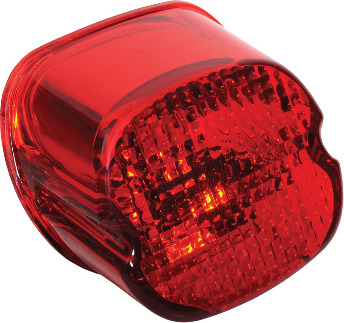 TAILLIGHT LENS LAYDOWN RED W/ BOTTOM TAG WINDOW