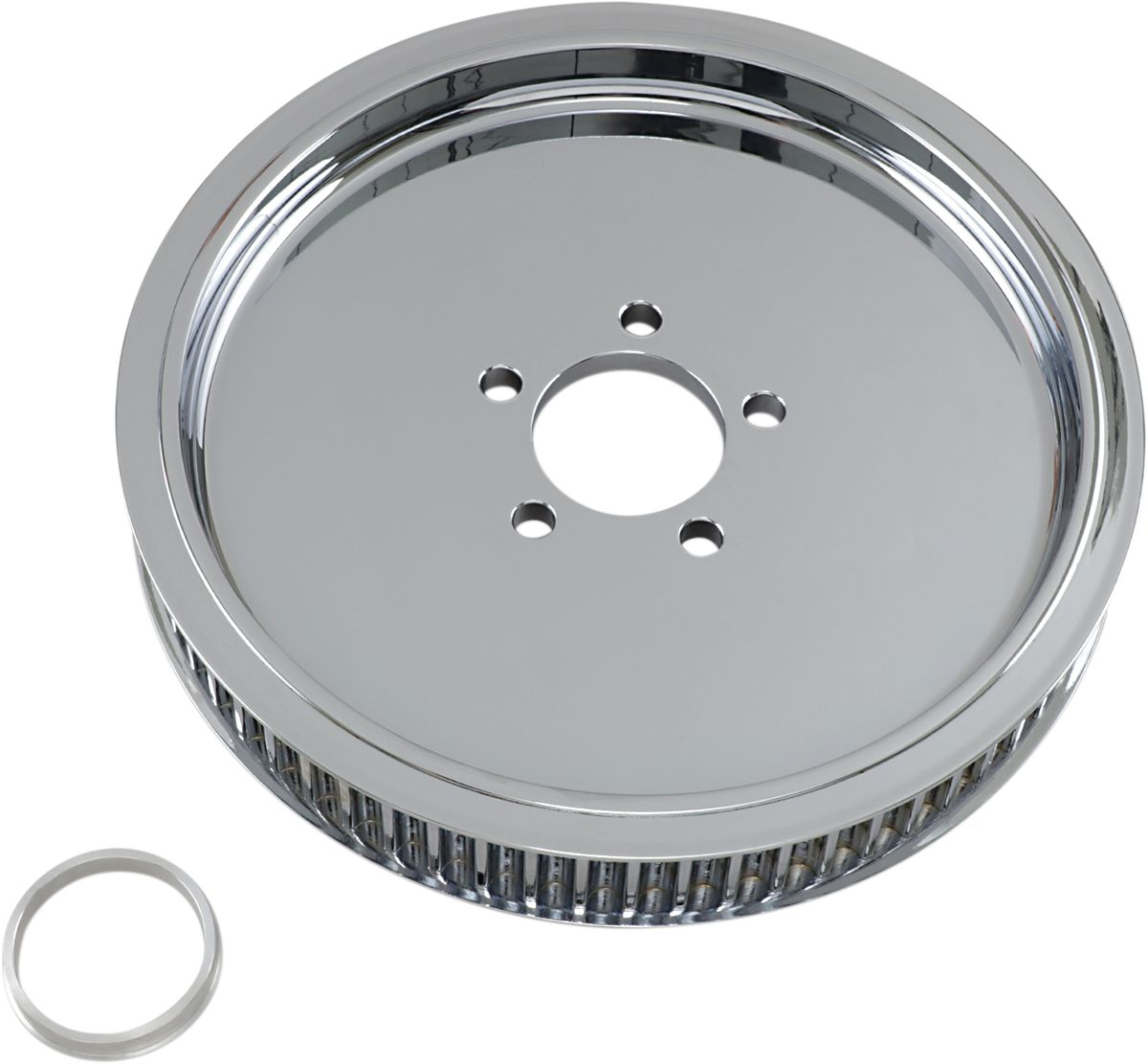REAR BELT PULLEY SMOOTH CHROME 65T